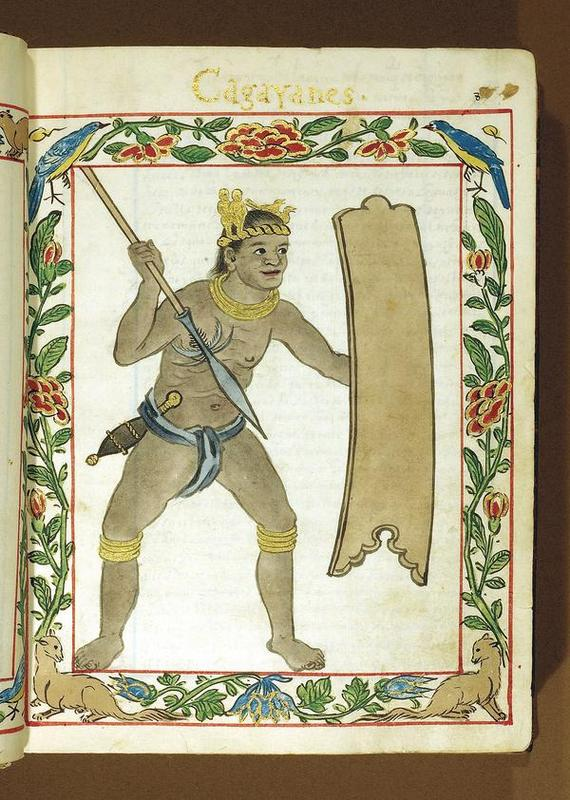 Cagayan warrior ca. 16th century from the Boxer Codex