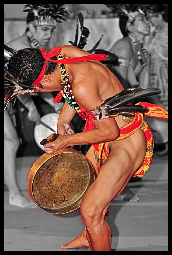 Kalinga war dance with gong