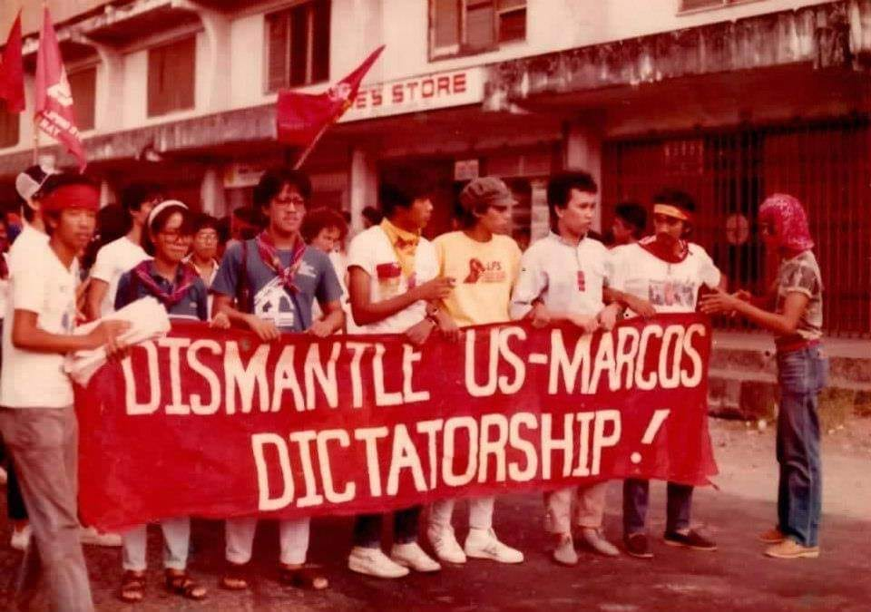 Manila rally vs US-Marcos dictatorship circa 1984-85