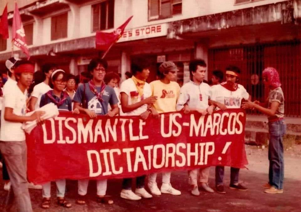 Manila rally vs US-Marcos dictatorship circa 1984-85