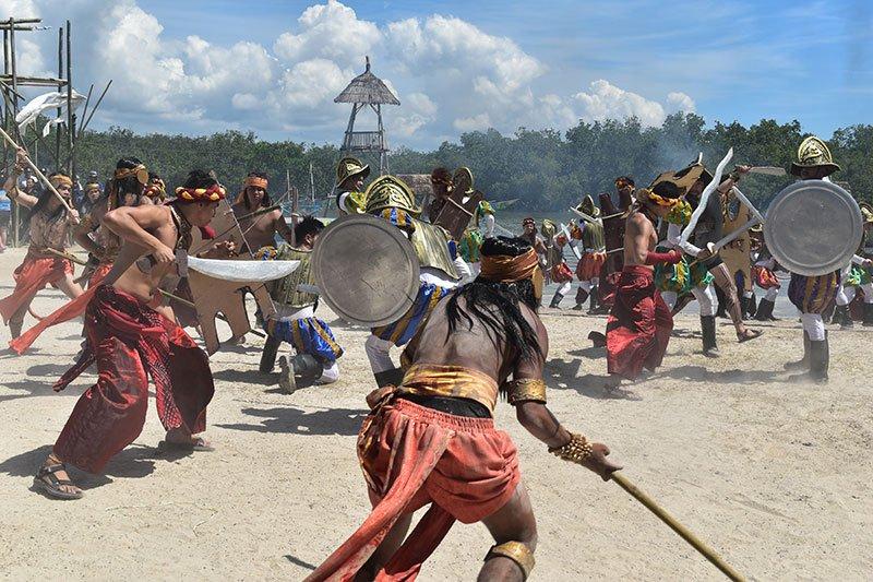 Battle of Mactan reenactment